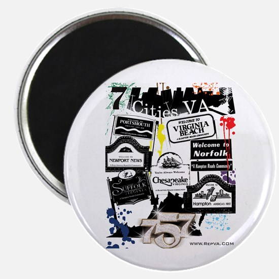 """7 Cities 2.25"""" Magnet (10 pack)"""