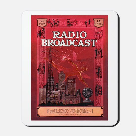 Radio Broadcast Red Mousepad