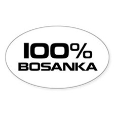 100% Bosanka Oval Decal