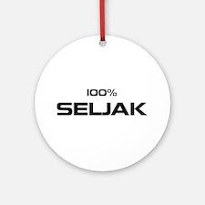 100% Seljak Ornament (Round)