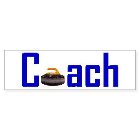 Curling Coach Blue Bumper Sticker