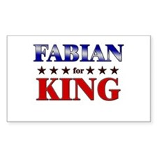 FABIAN for king Rectangle Decal