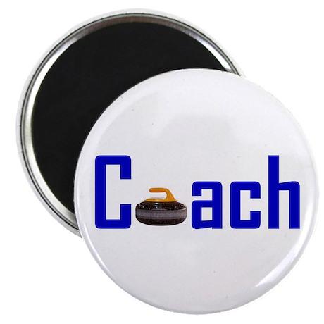 "Curling Coach Blue 2.25"" Magnet (100 pack)"