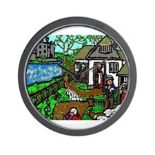 The Medieval Villagers Wall Clock