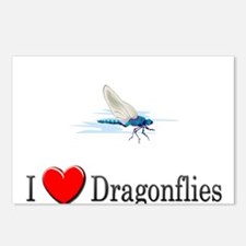 I Love Dragonflies Postcards (Package of 8)