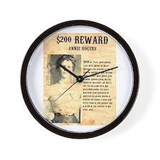 Annie Rogers $ Reward Wall Clock