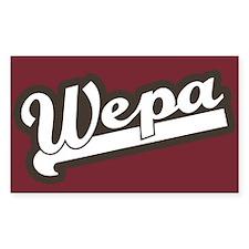 Wepa! Rectangle Decal
