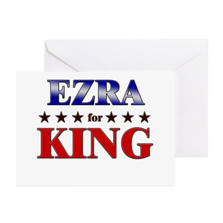 EZRA for king Greeting Cards (Pk of 10)
