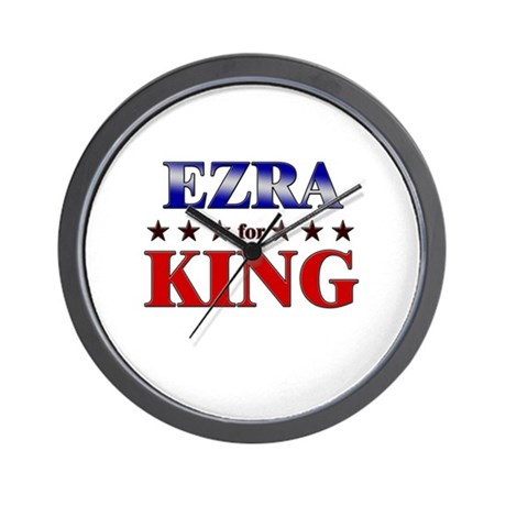 EZRA for king Wall Clock