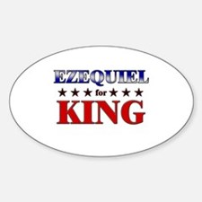 EZEQUIEL for king Oval Decal