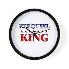 EZEQUIEL for king Wall Clock