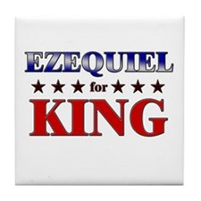 EZEQUIEL for king Tile Coaster
