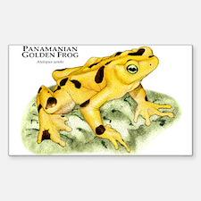 Panamanian Golden Frog Rectangle Decal