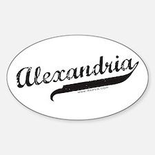 Alexandria Oval Decal