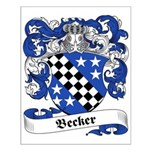 Becker Family Crest Small Poster