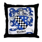 Becker Family Crest Throw Pillow