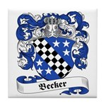 Becker Family Crest Tile Coaster