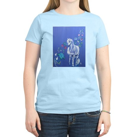 pretty pony and flowers Women's T-Shirt