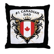 Number One Canadian Dad Throw Pillow