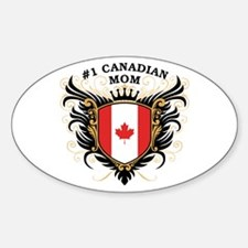 Number One Canadian Mom Oval Decal