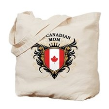 Number One Canadian Mom Tote Bag