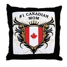 Number One Canadian Mom Throw Pillow