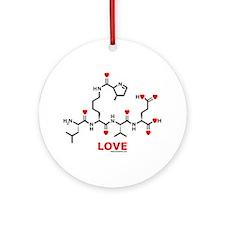 Molecularshirts.com Love molecule Ornament (Round)
