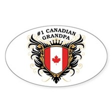 Number One Canadian Grandpa Oval Decal