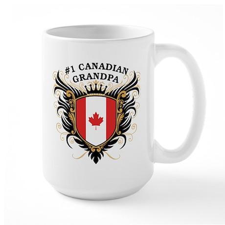 Number One Canadian Grandpa Large Mug