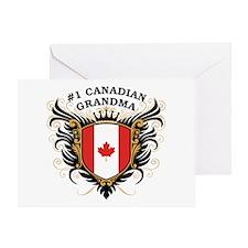 Number One Canadian Grandma Greeting Card