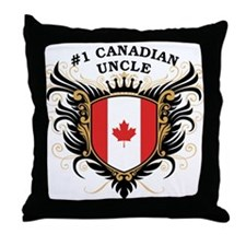 Number One Canadian Uncle Throw Pillow