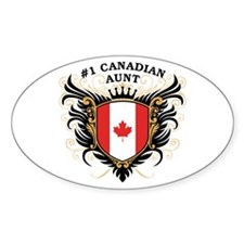 Number One Canadian Aunt Oval Decal