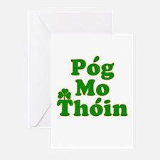 Pog Mo Thoin Kiss My Ass Greeting Cards (Pk of 10)