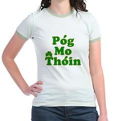 Pog Mo Thoin Kiss My Ass Jr. Ringer T-Shirt