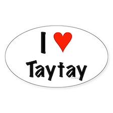 I love TayTay Oval Decal