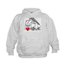 I Love Fire Engines Hoodie