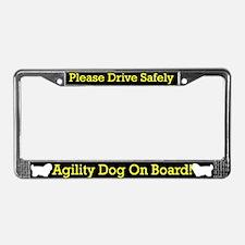 Coton de Tulear Agility Dog License Plate Frame