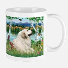Country Birches & Great Pyrenees Mug