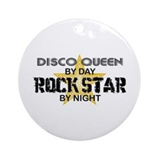 Disco Queen RockStar Ornament (Round)
