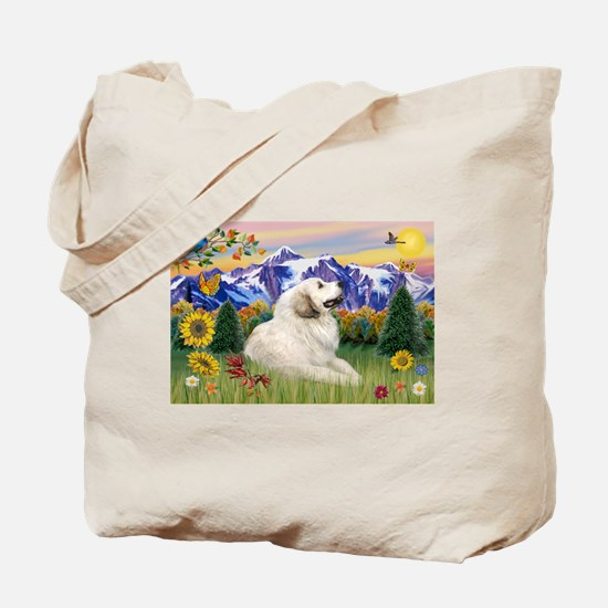 Mt Country & Great Pyrenees Tote Bag