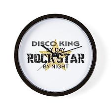 Disco King RockStar by Night Wall Clock