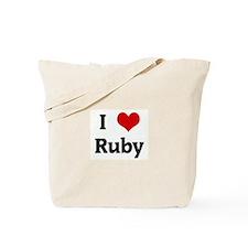 I Love Ruby Tote Bag