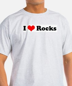 I Love Rocks Ash Grey T-Shirt