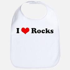 I Love Rocks Bib