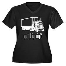 Big Rig 1 Women's Plus Size V-Neck Dark T-Shirt