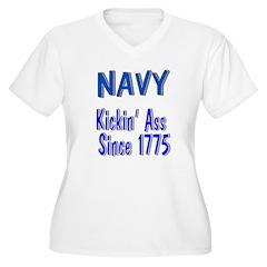 Navy Kickin Ass T-Shirt