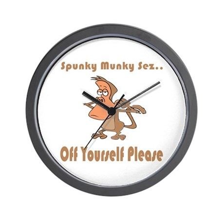 Off Yourself Please Wall Clock