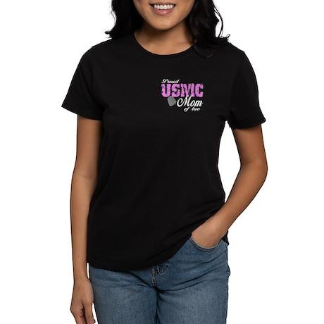 Proud USMC Mom of two Women's Dark T-Shirt