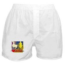 I Love Fire Engines Boxer Shorts