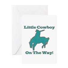 Little Cowboy on the way Greeting Card